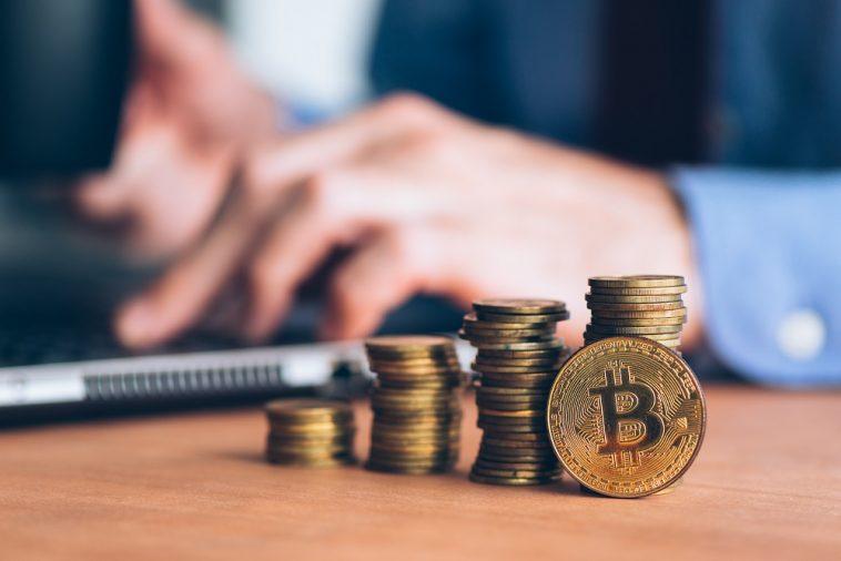 pilha crescente de bitcoin