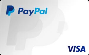 cartão de crédito Paypal Visa
