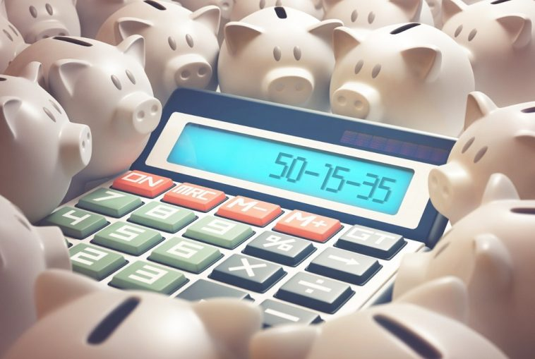 calculadora escrito regra 50 15 35 orçamento