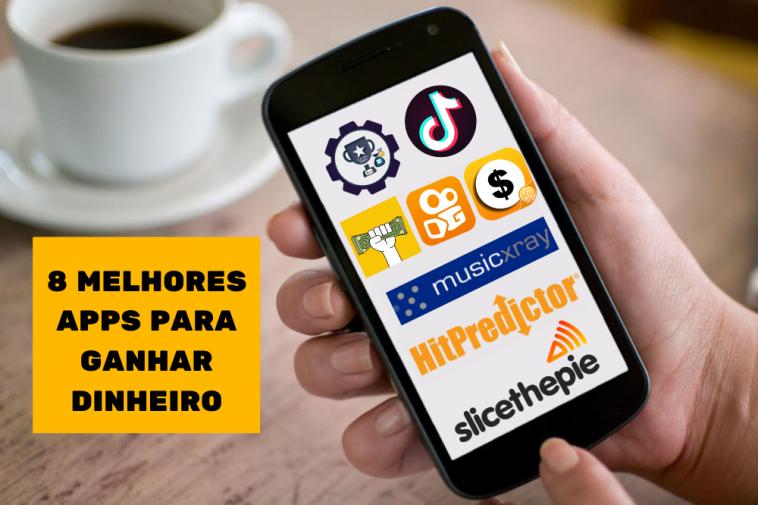 tela de celular mostrando os melhores aplicativos para ganhar dinheiro online