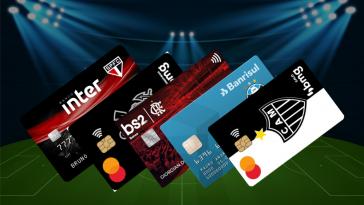 contas e cartões de time de futebol