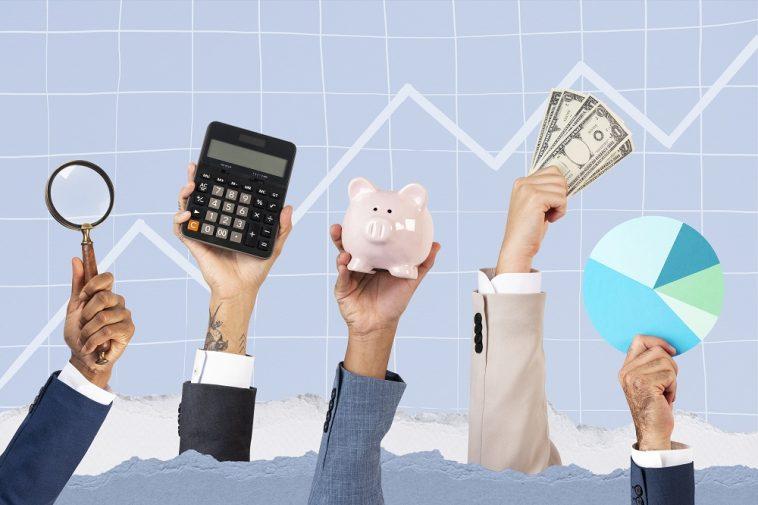 conceito de soluções de lucro de mãos de crescimento de negócios simbolizando os investimentos de renda fixa isentos de imposto de renda