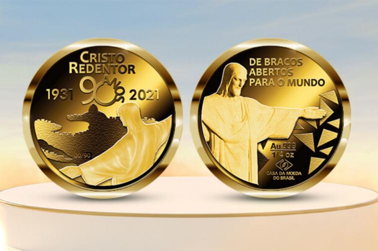 Medalha de 90 anos do Cristo Redentor lançada pela Casa da Moeda