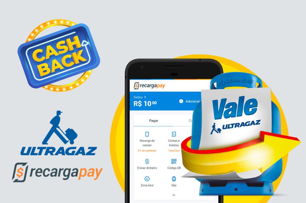 vale-gás Ultragaz e RecargaPay